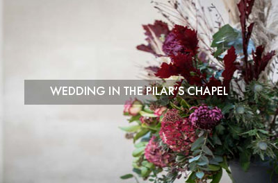 Winter Wedding in the Colegio del Pilar's chapel