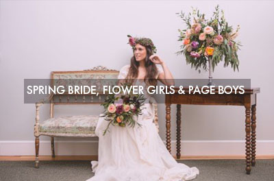 Spring Bride, flower girls and page boys