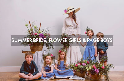 Summer Bride, flower girls and page boys
